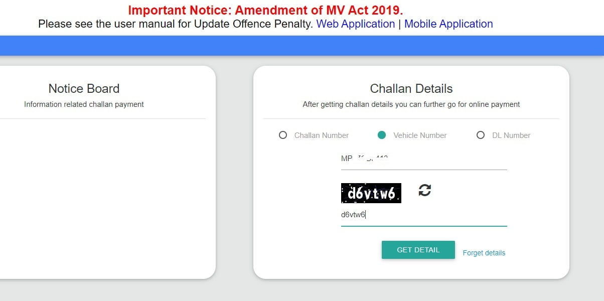How to pay traffic challan online and ofline