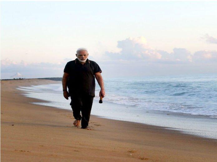 PM Modi at MamallapuramBeach